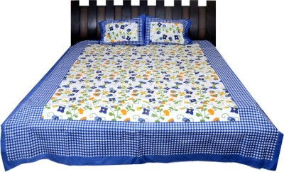 Nathi and Nancy Cotton Checkered Double Bedsheet