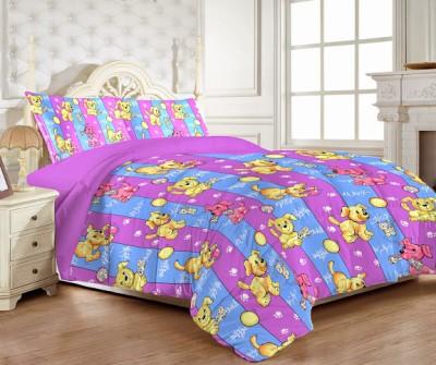 MYCK Cotton Abstract Single Bedsheet