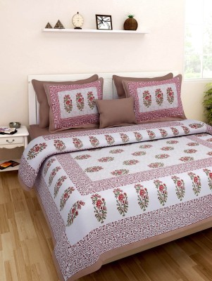 RoopGovind Cotton Printed Double Bedsheet