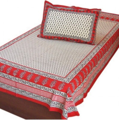 shoppingtara Cotton Floral Single Bedsheet