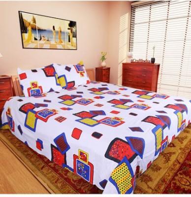 Husna Collectios Cotton Geometric Double Bedsheet