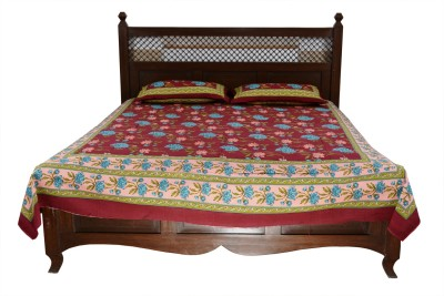 Soundarya Cotton Floral Double Bedsheet