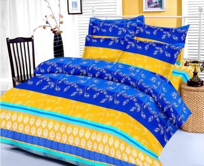 Factorywala Cotton Floral Single Bedsheet