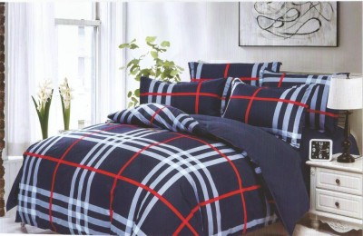 Bed Sheet Cotton Checkered Double Bedsheet