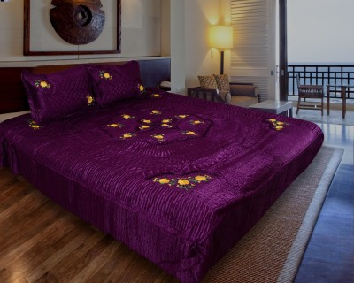Home Shop Gift Satin Abstract Double Bedsheet