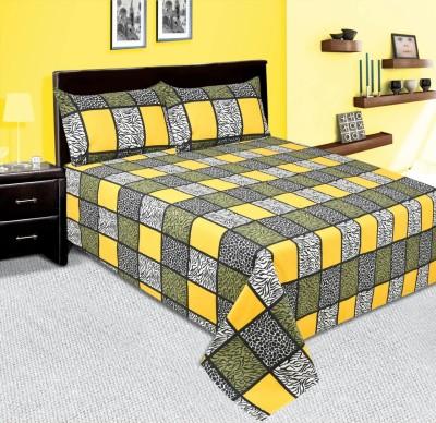 mahirfurnishings Cotton Striped Double Bedsheet
