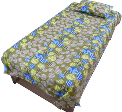 Thefancymart Cotton Abstract Single Bedsheet