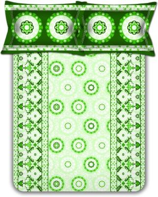 Homebee Cotton Geometric Double Bedsheet