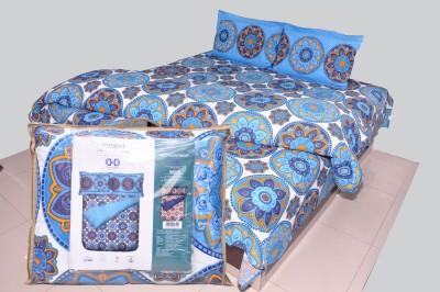 Trident Cotton Floral Double Bedsheet