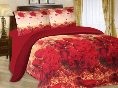 Cadillac Cotton Abstract Queen sized Double Bedsheet