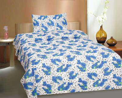 CURL UP Cotton Printed Single Bedsheet