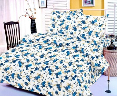 Zigma Collections Cotton Floral King sized Double Bedsheet