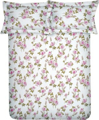 Bombay Dyeing Cotton Floral Double Bedsheet