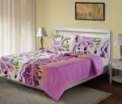 Hemlines Cotton Abstract Double Bedsheet