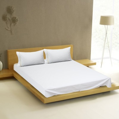 Milano Home Cotton Plain King sized Double Bedsheet