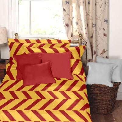 Dreamscape Cotton Striped Single Bedsheet