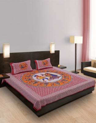 Heritage Singhal Cotton Printed Double Bedsheet