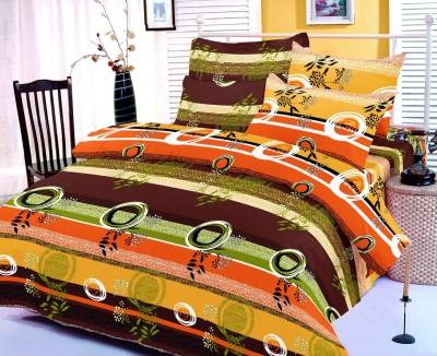 Zigma Collections Cotton Geometric Double Bedsheet