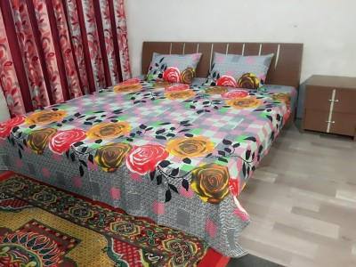 garima 7 star Cotton Floral Double Bedsheet