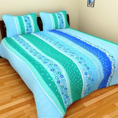 AS Cotton Floral Double Bedsheet