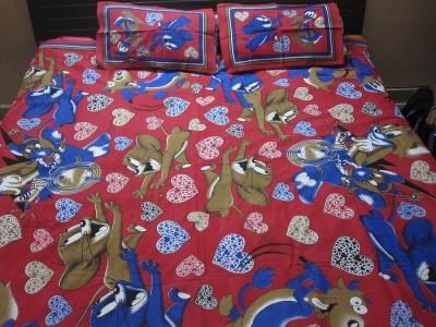 AyushFabrics Cotton Cartoon Double Bedsheet