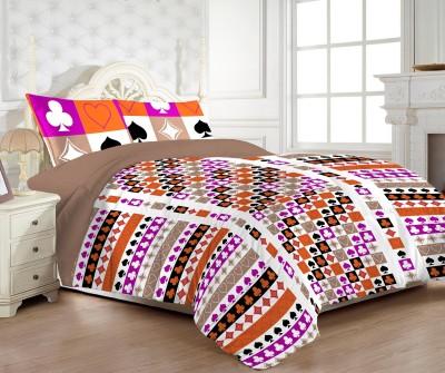 MYCK Cotton Printed Double Bedsheet