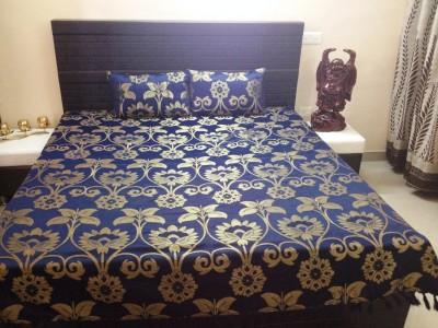 JMD Chennile Floral Double Bedsheet
