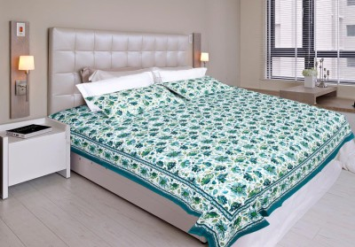 Glitter Cotton Printed King sized Double Bedsheet
