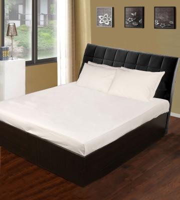 White Swan Cotton Plain Double Bedsheet