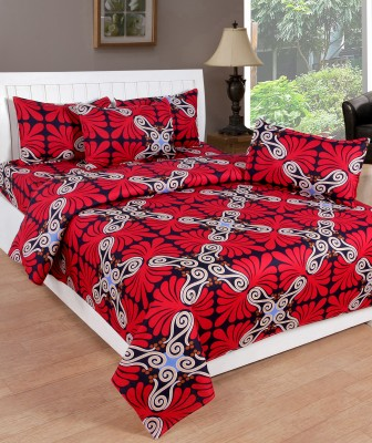 Countingbeds Cotton Abstract Queen sized Double Bedsheet