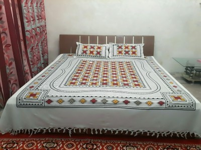 MR MACHROLI Cotton Floral Double Bedsheet