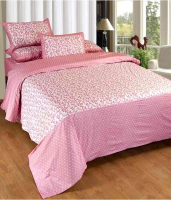 Home Gold Cotton Abstract Double Bedsheet