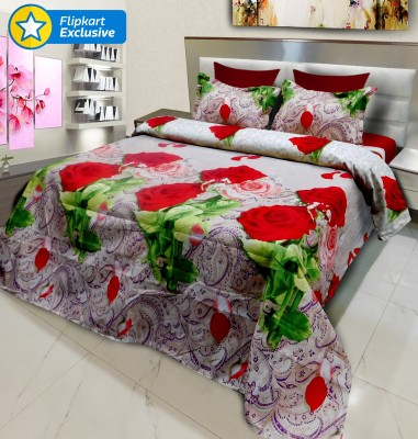 Signature Polyester, Polycotton Floral King sized Double Bedsheet