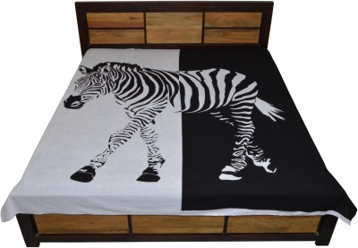 Jaipur Kala Kendra Cotton Self Design Double Bedsheet