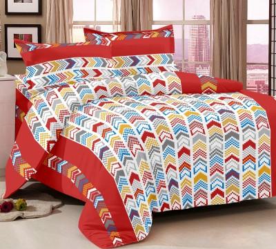 Queen Cotton Cotton Geometric Double Bedsheet