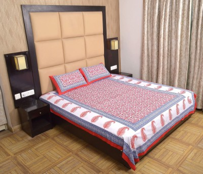 Heritage Jaipur Cotton Printed Double Bedsheet