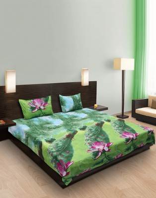 R.M TRADING Polycotton Printed Double Bedsheet