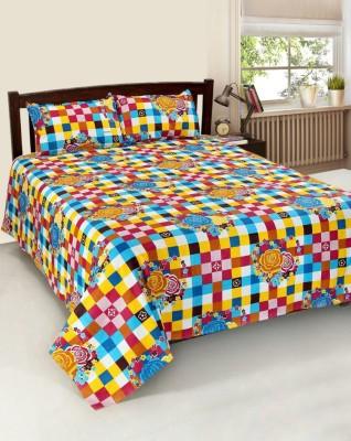 JMD Cotton Floral Double Bedsheet