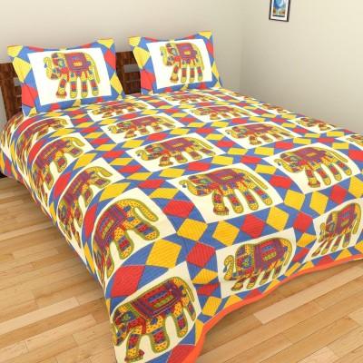 Rajkruti Cotton Animal King sized Double Bedsheet