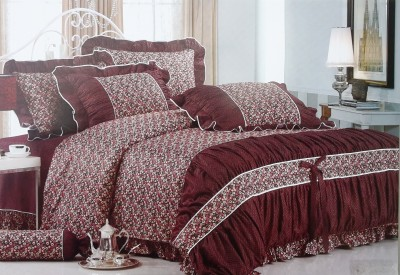 VS Collection Cotton Floral King sized Double Bedsheet