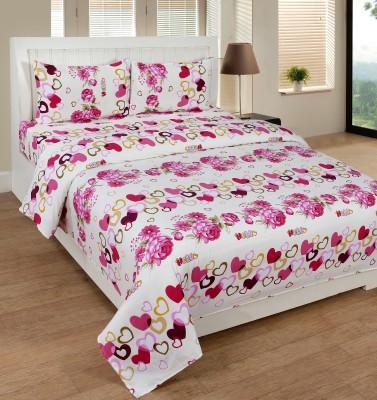 SHREEJEE Polycotton Printed Double Bedsheet