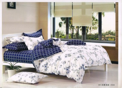 Whites of Allay Cotton Floral Double Bedsheet