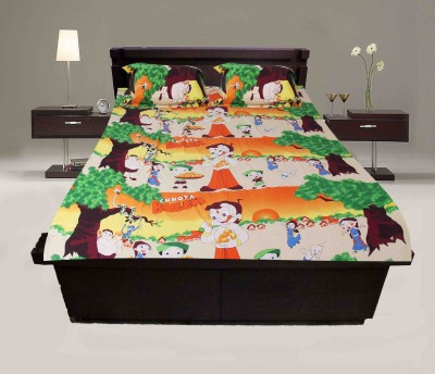 Krishnam Cotton Cartoon Double Bedsheet