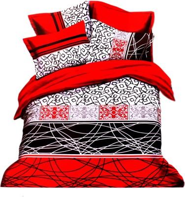 BHATIA HOME DECOR Cotton Abstract Double Bedsheet