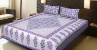 JaipurFabric Cotton Printed Double Bedsheet(Quantity: Set of 3 Pieces (1 Double Bed Sheet + 2 Pillow Covers), Multicolor) best price on Flipkart @ Rs. 1299