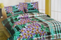 Snuggle Cotton Abstract Queen sized Double Bedsheet(1 Bedsheet, 2 Pillow Covers, Multicolor)