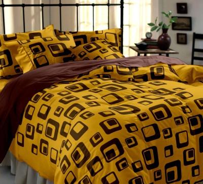 Home Ecstasy Cotton Geometric Double Bedsheet