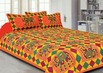 Aditfab Cotton Printed Double Bedsheet
