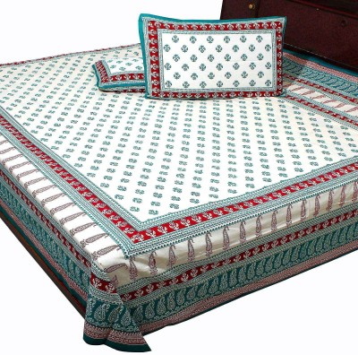 Anshuhandicrafts Cotton Printed Double Bedsheet