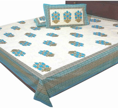Polkakart Cotton Printed King sized Double Bedsheet